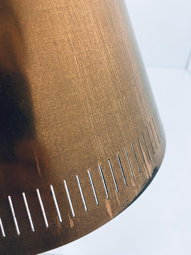 Mid-Century Danish Modern Copper Cone Pendant Ceiling Lamp, 1950s For Sale 5