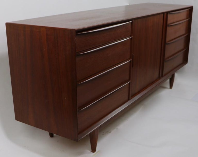 Danish Modern Credenza For Sale : Mid century danish modern teak credenza by falster for sale at 1stdibs