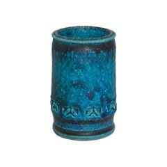 Mid Century Danish Modern Decorative Vase BITOSSI Blue