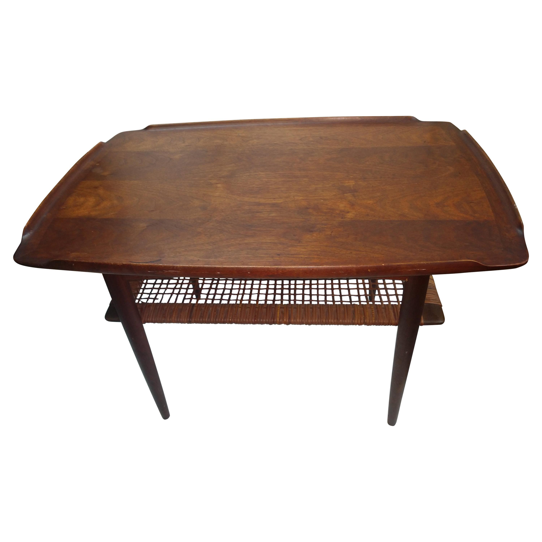 Mid Century Danish Modern End Table by Poul Jensen