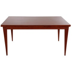 Midcentury Danish Modern Extendable Dining Table in Teak by Niels Otto Møller