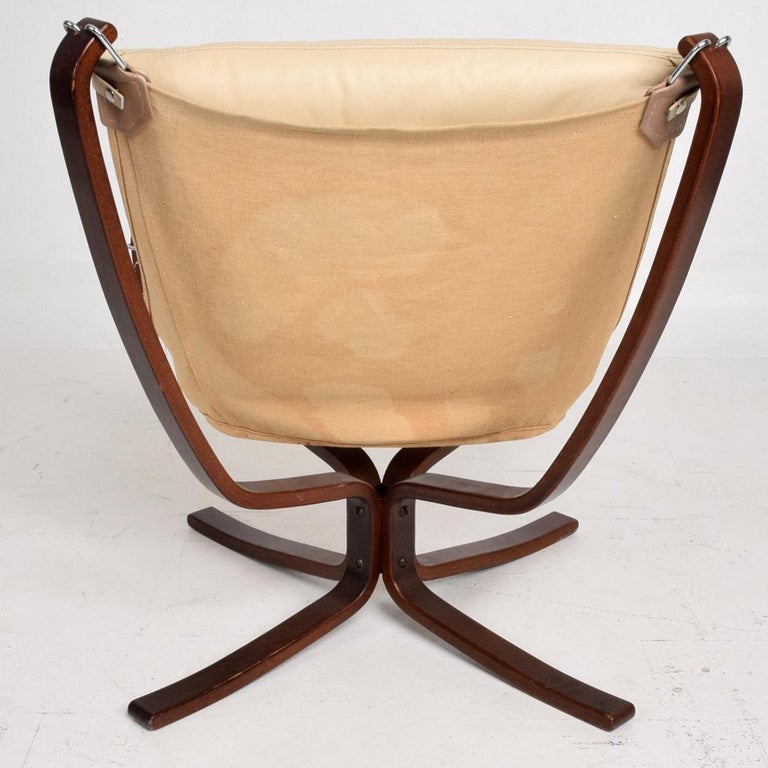 Leather Mid-Century Danish Modern Falcon Chair by Sigurd Ressell for Vatne Møbler