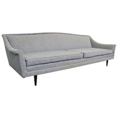 Midcentury Danish Modern Fritz Hansen Style Sofa on Tapered Legs
