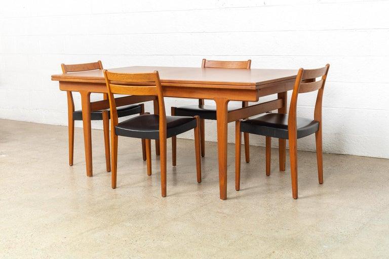 Midcentury Danish Modern Henning Kjaernulf Extendable Dining Table, 1960s For Sale 4