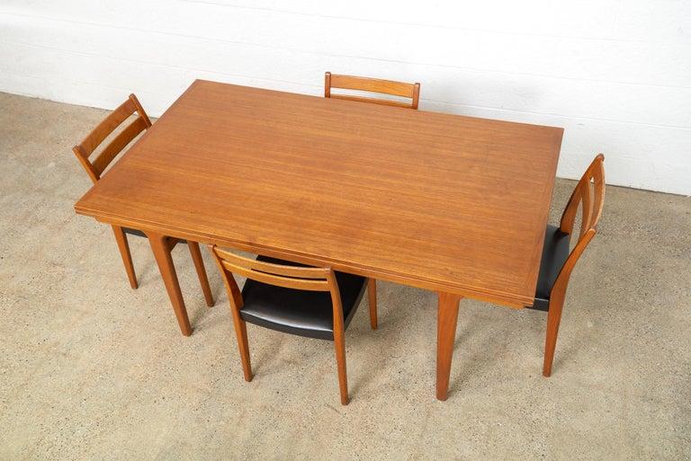 Midcentury Danish Modern Henning Kjaernulf Extendable Dining Table, 1960s For Sale 5