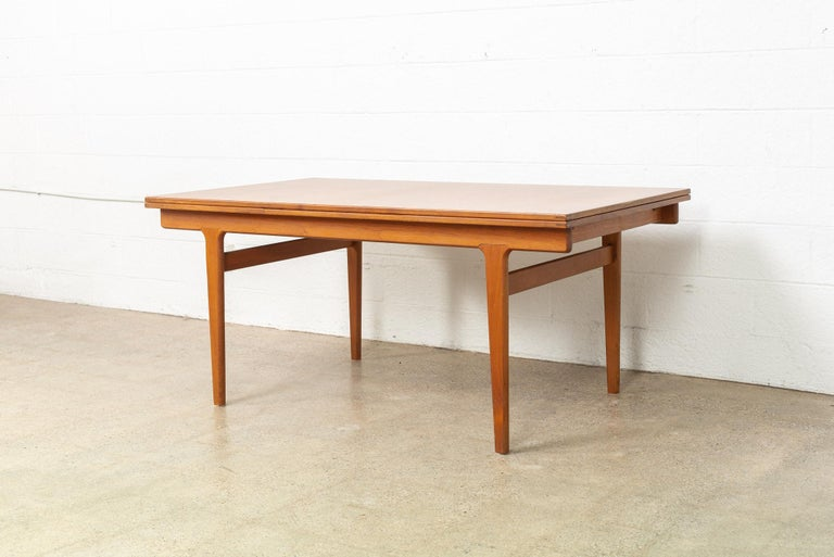 Mid-Century Modern Midcentury Danish Modern Henning Kjaernulf Extendable Dining Table, 1960s For Sale