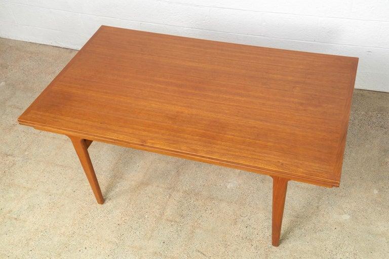 Mid-20th Century Midcentury Danish Modern Henning Kjaernulf Extendable Dining Table, 1960s For Sale