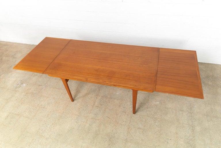 Teak Midcentury Danish Modern Henning Kjaernulf Extendable Dining Table, 1960s For Sale