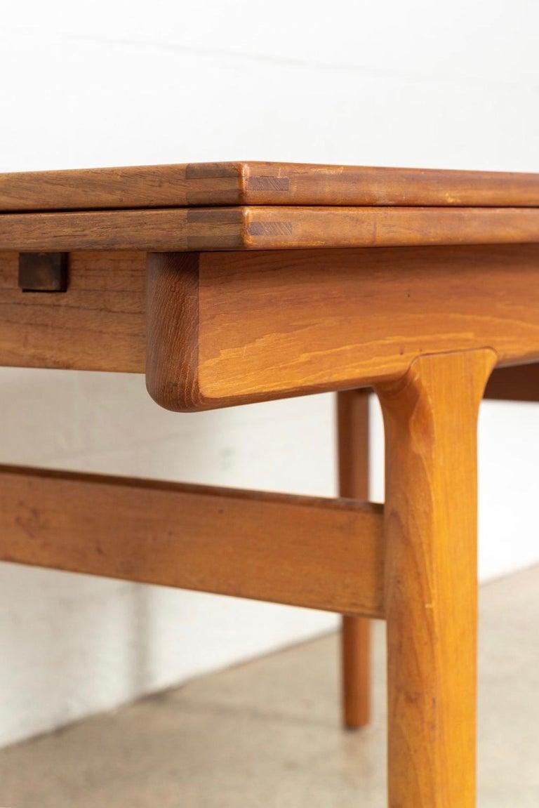 Midcentury Danish Modern Henning Kjaernulf Extendable Dining Table, 1960s For Sale 1
