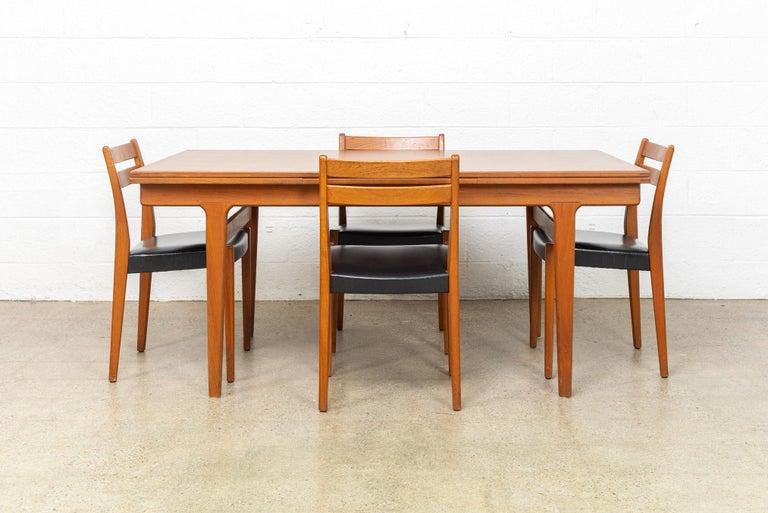 Midcentury Danish Modern Henning Kjaernulf Extendable Dining Table, 1960s For Sale 3