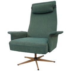 Mid-Century Danish Modern High Back Swivel Rocker Lounge Chair