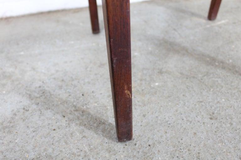 20th Century Mid-Century Danish Modern Jens Risom Walnut End/Side Table For Sale