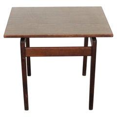 Mid-Century Danish Modern Jens Risom Walnut End/Side Table