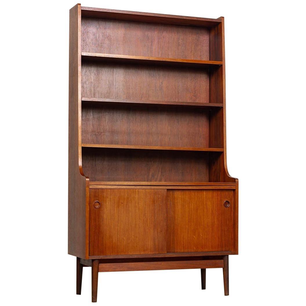 Midcentury Danish Modern Johannes Sorth Tall Wood Bookcase