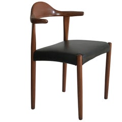 Midcentury Danish Modern Leather Accent or Desk Chair