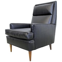 Midcentury Danish Modern Leather Selig Lounge Chair