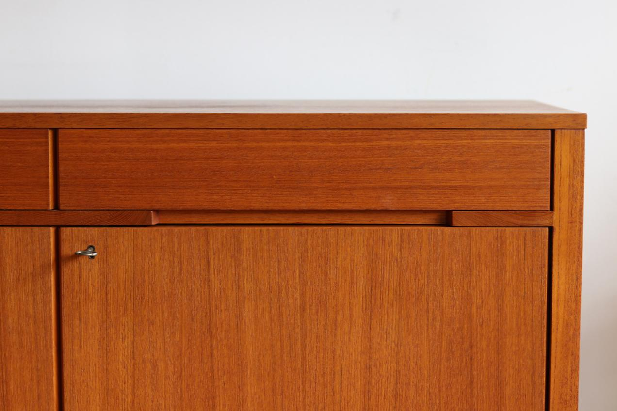 Danish Modern Credenza Sideboard : Midcentury danish modern locking teak credenza for sale at