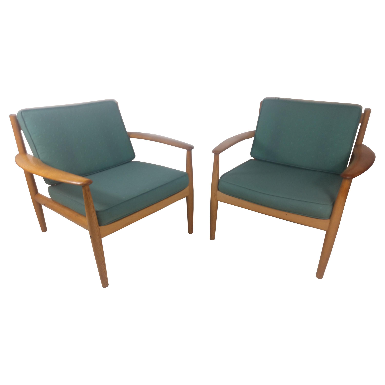 Mid Century Danish Modern Lounge Chairs by Grete Jalk