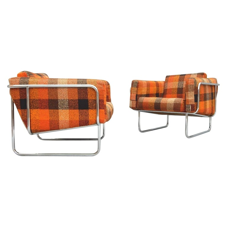 Mid Century Danish Modern Lounge Chairs by Hans Eichenberger For Sale