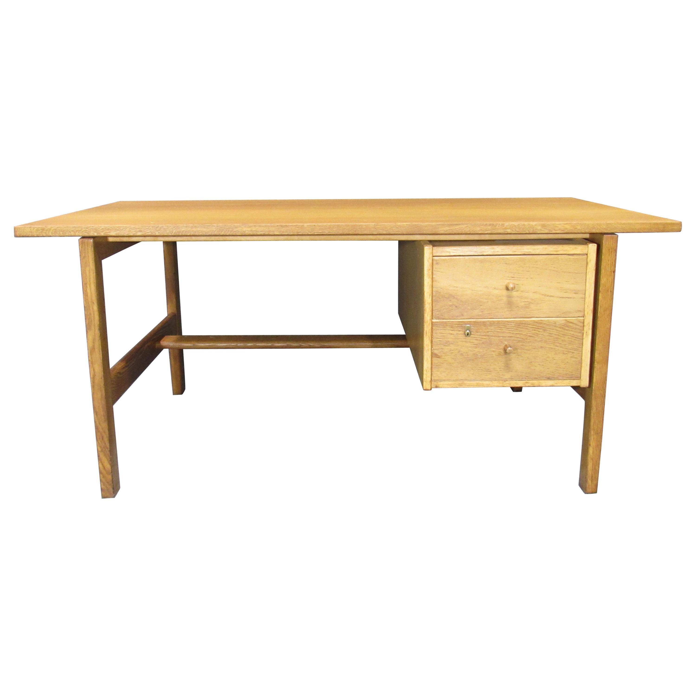Midcentury Danish Modern Model 156 Oak Desk by Hans Wegner for GETAMA