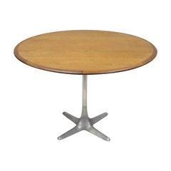 Midcentury Danish Modern Moreddi Andersen Walnut Dining Table Propeller Base