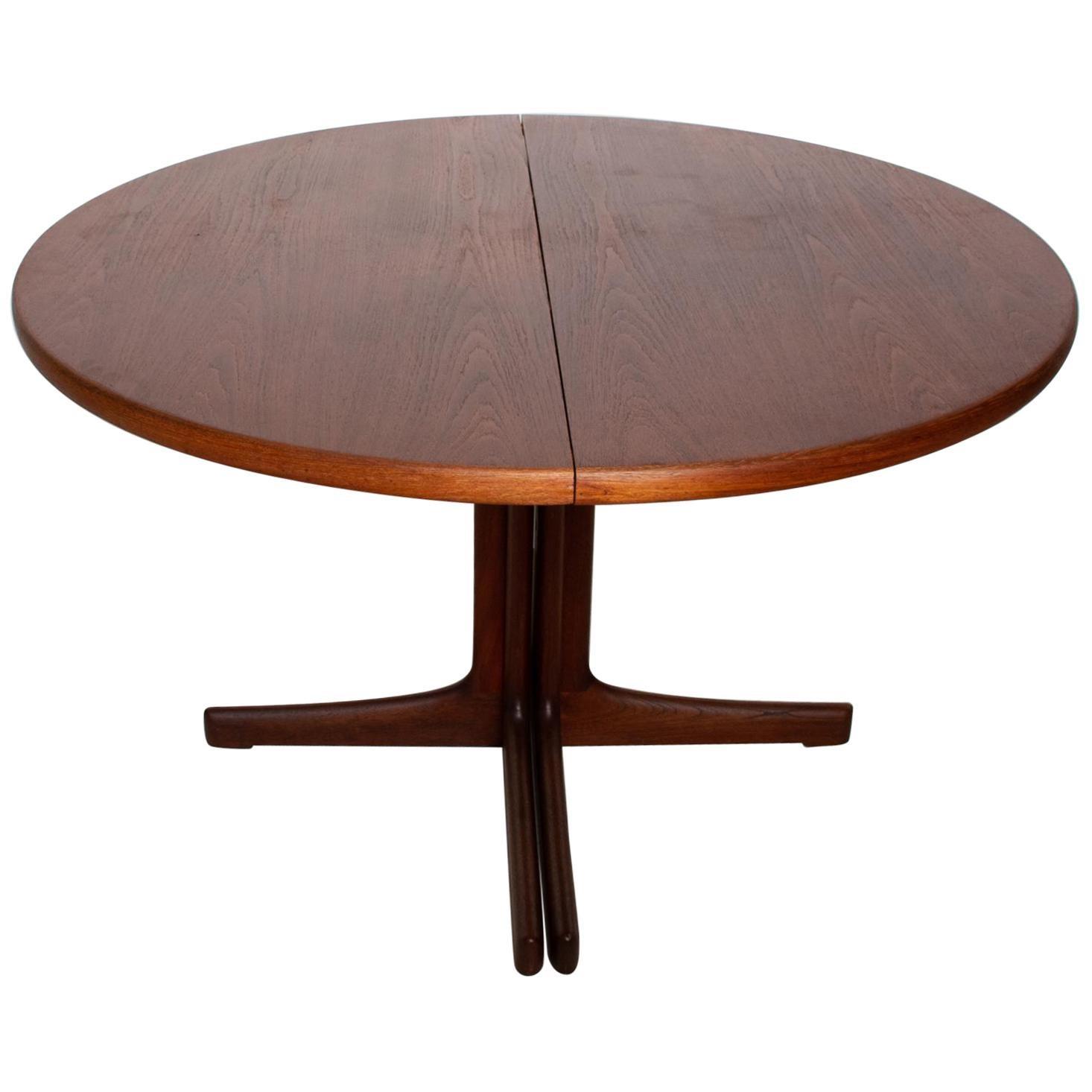 Mid Century Danish Modern Oval Teak Dining Table