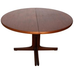 Mid Century Danish Modern Oval Teak Dining Table