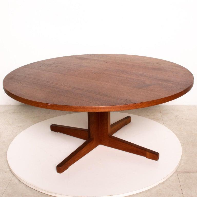 Midcentury Danish Modern Round Coffee Table Solid Teak ...