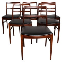 Midcentury Danish Modern Set of 6 Dining Chairs by Arne Vodder for Sibast 430