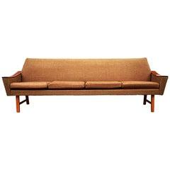 Midcentury Danish Modern Sofa in Teak by Oscar Langlo for Pi Langlos Fabrikker