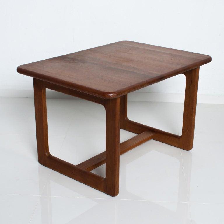 Danish Finn Juhl Fabulous Solid Teak Side Tables Classic Clean Modern Denmark 1980s For Sale