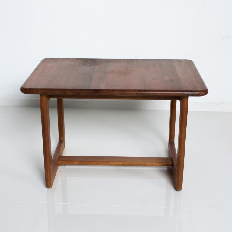 Oiled Finn Juhl Fabulous Solid Teak Side Tables Classic Clean Modern Denmark 1980s For Sale