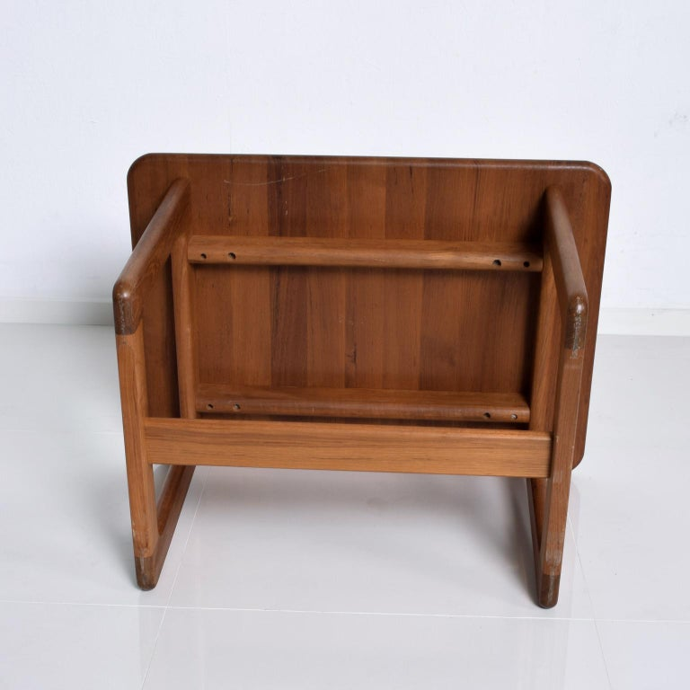 Finn Juhl Fabulous Solid Teak Side Tables Classic Clean Modern Denmark 1980s In Good Condition For Sale In National City, CA