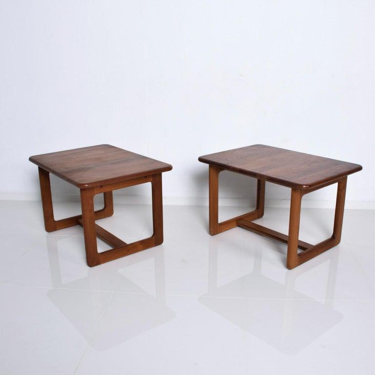 Finn Juhl Fabulous Solid Teak Side Tables Classic Clean Modern Denmark 1980s For Sale 1