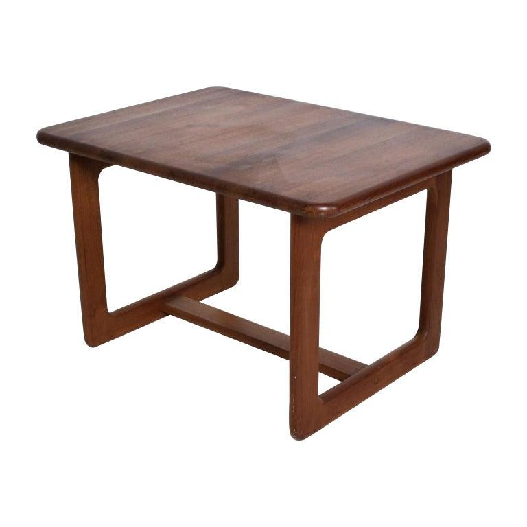 Finn Juhl Fabulous Solid Teak Side Tables Classic Clean Modern Denmark 1980s For Sale