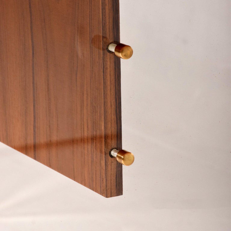 Mid-Century Modern Mid-Century Danish Modern Teak and Lucite Dining Table For Sale