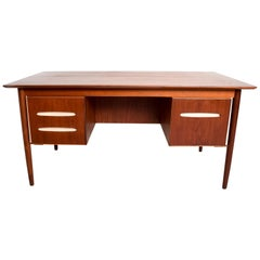 Midcentury Danish Modern Teak Receiving Desk Bookshelf Koford Larsen Era
