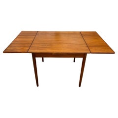 Mid Century Danish Modern Teak Small Refectory Extension Dining Table
