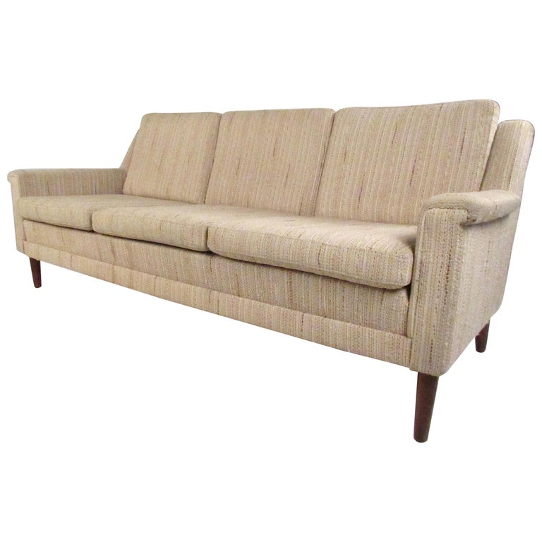 Midcentury Danish Modern Three-Seat Sofa by Dunflex For Sale