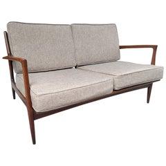 Mid Century Danish Modern Two Seat Sofa by IB Kofod Larsen for Selig