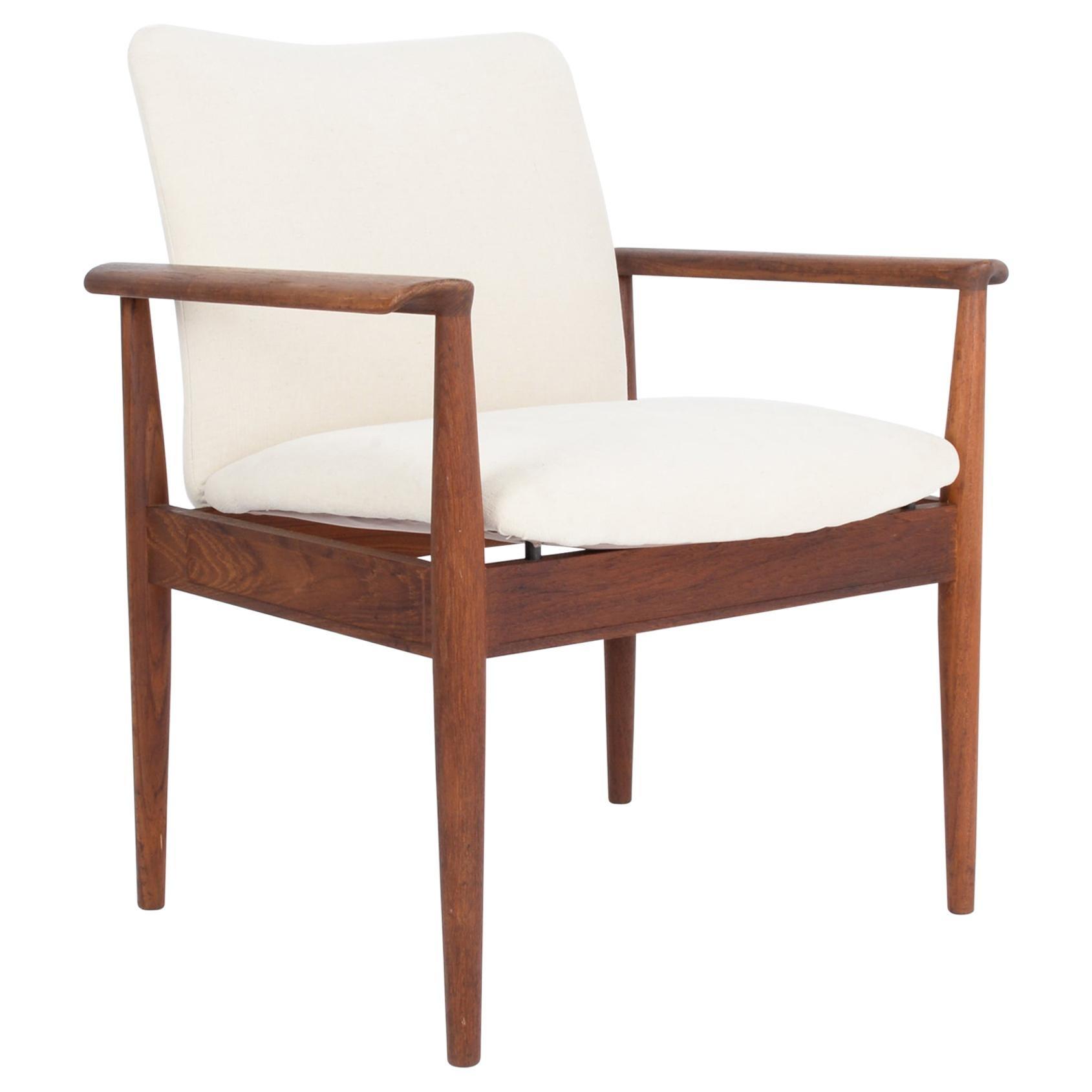 Midcentury Danish Modern Upholstered Armchair