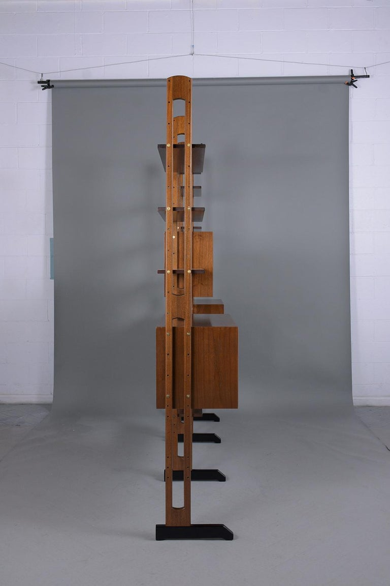 Mid-Century Danish Modern Wall Unit For Sale 9