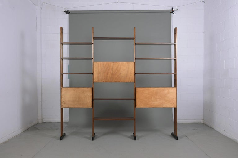 Mid-Century Danish Modern Wall Unit For Sale 11