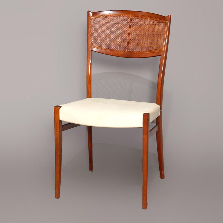 Midcentury Danish Modern Walnut Dining Set by Drexel, 20th Century In Good Condition For Sale In Big Flats, NY
