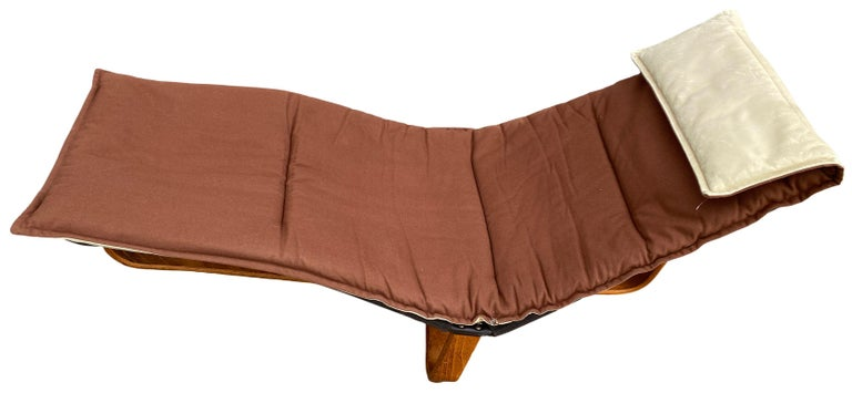 Mid-20th Century Midcentury Danish Modern Westnofa Leather Chaise Lounge Chair Ingmar Relling For Sale