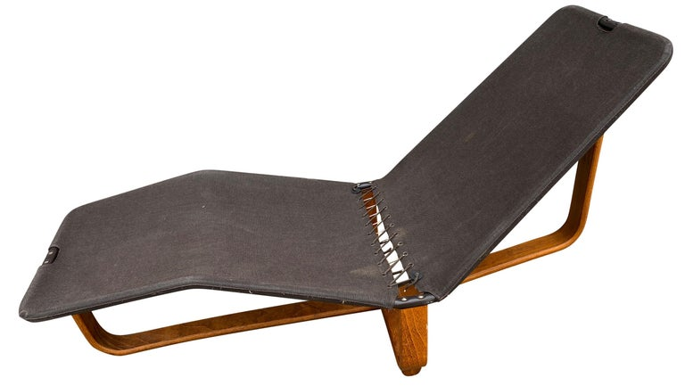 Wool Midcentury Danish Modern Westnofa Leather Chaise Lounge Chair Ingmar Relling For Sale
