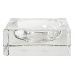 Midcentury Danish Molded Glass Vide-Poche