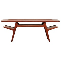 Midcentury Danish Oblong Teak Coffee Table Attributed to Niels O. Møller, 1960s