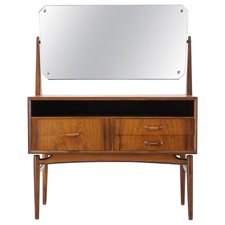 Midcentury Danish Palisander Dressing Table, 1960s For Sale