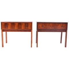 Midcentury Danish Rosewood Bedside Tables